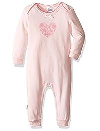 Kushies 女婴混合搭配连身衣。 粉色(心型)