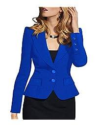 sebowel 女式正式长袖两扣办公工作上衣夹克花色