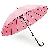 弘キッチ 晴雨兼用〔湿后浮现图案〕长柄伞 「樱花」粉色 56cm/16根骨 (耐风结构) 50223