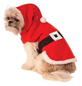 Santa Hoodie Dog Costume, Large