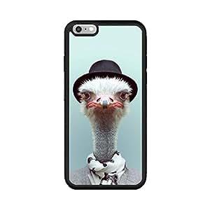 Andenley Ostrich iPhone 手机壳,动物图案鸵鸟手机壳防震,防碰撞,TPU 黑色保护壳 iPhone 5/5s/SE,6/6s,6P,7/8,7P/8P iPhone 7p/8p 黑色