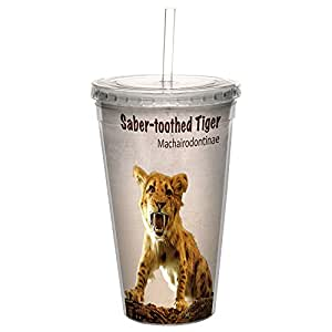 无树问候语 CC35953 冷杯,双壁 不含吸管和盖子旅行隔热杯 Saber-Toothed Tiger 16 盎司 CC35906
