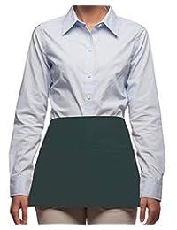 Rexzo 中性款 3 口袋豪华腰部围裙,适合服务员、女服务员和食品服务 - 美国制造 - 多种颜色