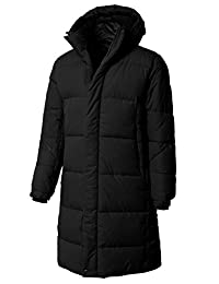 H2H Mens Active Puffer Jacket Winter Quilted Long Parka With Hood
