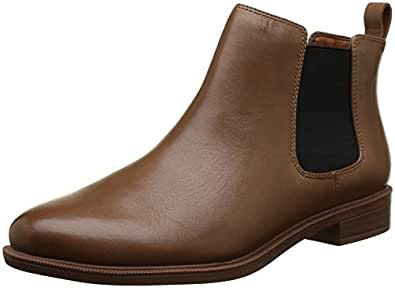Clarks 女式 TAYLOR SHINE Chelsea 靴子 Brown (Tan Leather) 3 UK