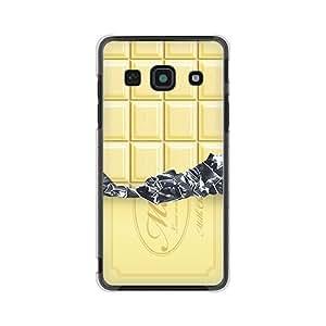 CaseMarket SoftBank 安心家庭手机 (204HW) 聚碳酸酯 透明硬质壳 [ 板状巧克力 collection - 白色 ]