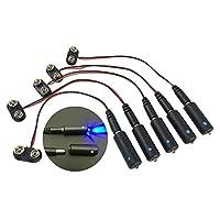 5 只装蓝色 LED 9 伏电池供电微效灯,适合风景道具和型号