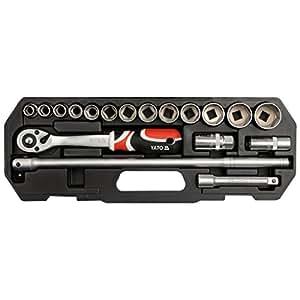 YATO 易尔拓 欧洲进口工具 18件套套筒扳手工具组套 YT-3870