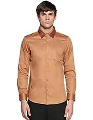 中国亚马逊:Trendiano 男式 新潮休闲英伦修身纯棉长袖衬衫衬衣 3133013610,原价:¥599,现价:¥40