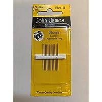John James 针 - 锋利尺寸 11 银色 11