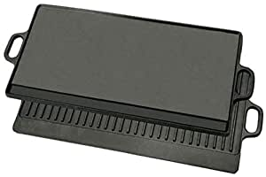 Bayou Classics Cast Iron Reversible Griddle 黑色 28 in.