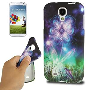 JUJEO Fluorescent Flower Pattern TPU Case for Samsung Galaxy S IV/I9500 - Non-Retail Packaging