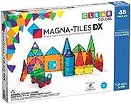Magna-Tiles 48 片透明色彩装饰套装 - 原版*磁性建筑瓷砖 - 创造力和教育性 - 经 STEM 认证