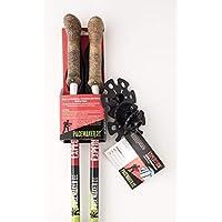 起搏器 stix expedition TREKKING poles 雙適用于步行,遠足,旅行, & 攀巖 超輕鋁合金可調節高度 & 可折疊折疊伸縮棒帶防震軟木手柄手柄
