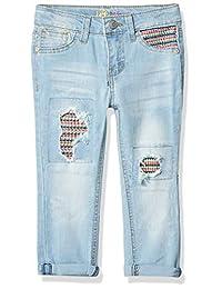 LEE 女童时尚紧身牛仔裤
