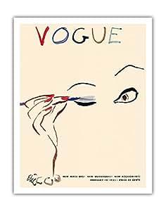 """太平洋岛艺术时尚杂志封面 - 1935 年 2 月 15 日 - Carl Erickson 创作的复古杂志封面 - 精美艺术印刷品 11"""" x 14"""" APB9064"""