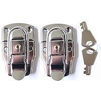 2 个箱子搭扣大带钥匙扣锁锁扣锁锁锁扣锁杆箱