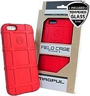 iPhone 6s Plus/iPhone 6 Plus 手机壳,带 TJS [钢化玻璃屏幕保护膜] Magpul [现场] MAG485 聚合物盖零售包装兼容苹果 iPhone 6 Plus/6S Plus 5.5 英