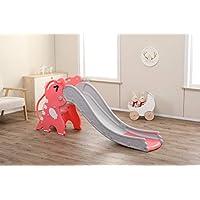 WHITSUNDAY 儿童滑梯,带篮球和篮筐 Baby T-Rex 粉红色