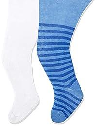 Playshoes 婴儿女孩河马和纯色舒适腰带连裤袜(每件2件)