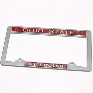 俄亥俄州七叶树队校友金属车牌架 - 青灰色外观设计