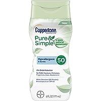 Coppertone 純粹簡單成人 SPF 50 *乳(6 液盎司)