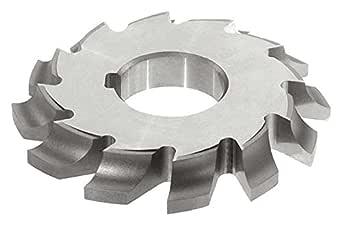 "KEO Milling 14130 左手切割圆角铣刀,""CL""式,1.91cm 宽,3.2cm 轴孔,10 齿,1.27cm 圆半径,10.16cm 切割直径,HSS,无涂层"