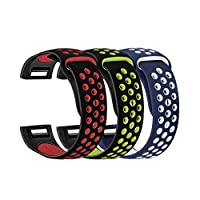 Fitbit Charge 2带硅胶表带 oenbopo 透气硅胶替换腕带运动腕带表带适合 Fitbit Charge 2小号大号 ( 30.48cm–30.48cm
