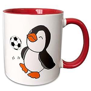 3dRose 马克杯 红色/白色 11-oz Two-Tone Red Mug mug_291124_5