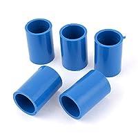 5 件 20mm 直径直发 PVC 管道连接器接头耦合器蓝色