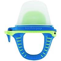 可填充、可冷冻的牙胶,适用于果汁、冰沙、果汁等(婴儿牙胶为美国制造,不含 BPA) 蓝色/绿黄色