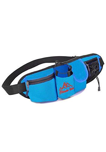 FinesDear 多功能骑行水壶腰包 旅游旅行户外运动包 男女随身用品健身跑步包