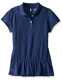 adidas Golf Girl's Climalite Advance Girls Pique Short Sleeve Polo