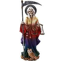 Pacific Giftware Santa Muerte 圣死圣徒站立宗教雕像 10 英寸 多种颜色 11549