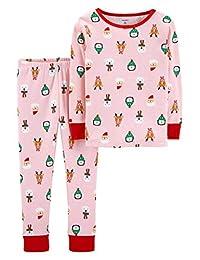 Carter's 卡特女婴假日印花棉质睡衣