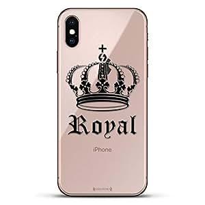 Luxendary Un-Case 系列设计师玻璃背板 iPhone Xs/XLUX-IXGL-CROWN2 LIFESTYLE: Royal Crown 透明