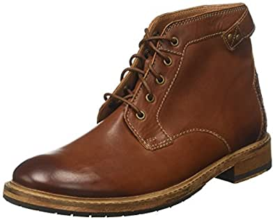 Clarks 男 踝靴 261277807060 深棕褐色 39.5 (UK 6)