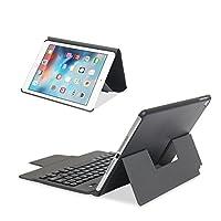 ikodoo爱酷多 无线键盘 适合苹果iPad Pro 10.5英寸平板电脑 无线蓝牙键盘 保护套 纤薄轻盈型一体皮套 剪角按键机械键盘 蓝牙3.0无线距离10米 (ipad pro 10.5英寸, 纤薄型 黑色)