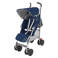 英国Maclaren 玛格罗兰 Techno XT婴童车 蓝/银色(亚马逊进口直采,品牌方直供,正品保证,Maclaren 16款新品)
