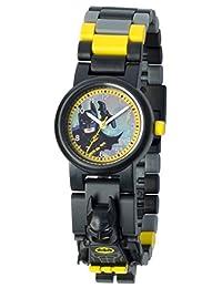 DC Comics LEGO BATMAN 电影蝙蝠侠儿童人仔表链 积木手表 | 黑色 / 黄色 | 塑料 | 28毫米机壳直径| 模拟 石英 | 男孩女孩 | 官方