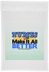 deniska Designs NURSE–* Make IT ALL better–旗帜 12 x 18 inch Garden Flag