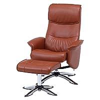 不二贸易 个人座椅面高47~51cm 驼色 躺椅 旋转式 带垫子 巴纳姆 65574