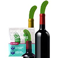 Pickle Wine Stopper - 趣味*瓶塞 - 趣味硅胶瓶塞 - WINE SAVER/PRESERVER - 2 件装 - HAWWWY 出品
