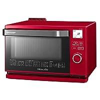 シャープ スチームオーブン ヘルシオ(HEALSIO) 18L 1段調理 レッド AX-CA400-R 需配變壓器