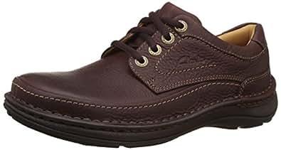 Clarks 男 功能休闲鞋Nature Three 20339005 红褐色皮革 39.5