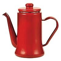 幻彩 珐琅咖啡壶1.1l 红色 HB-2942