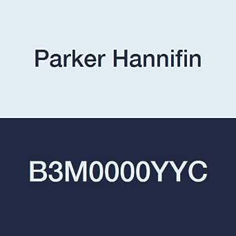 "PARKER 派克 Hannifin B3系列阳极氧化铝气动3路空气控制阀 双远程导向 2位 5/32"" (4 mm) Tube, 1/8"" NPT Inline Port Size B3M0000YYC 1"