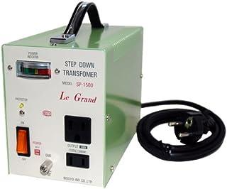 日章工业 变压器 海外 小型 轻量 AC220/240伏→AC100伏 1500瓦 豪华型 SP系列 SP-1500
