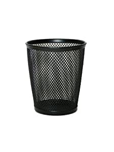 Design International Group Mesh Round Pencil Cup, Black (28507)