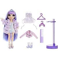 MGA Entertainment 彩虹娃娃 紫罗兰威洛夫 紫色时装娃娃 2套服装